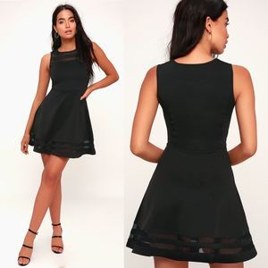 Lulu's | Final Stretch Black Dress